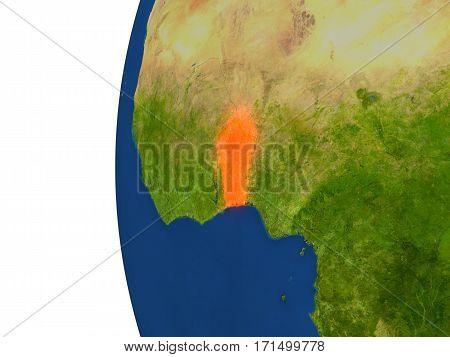 Benin On Globe