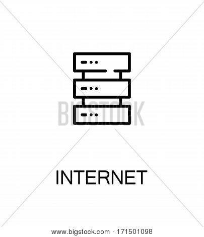 Internet icon. Single high quality outline symbol for web design or mobile app. Thin line sign for design logo. Black outline pictogram on white background