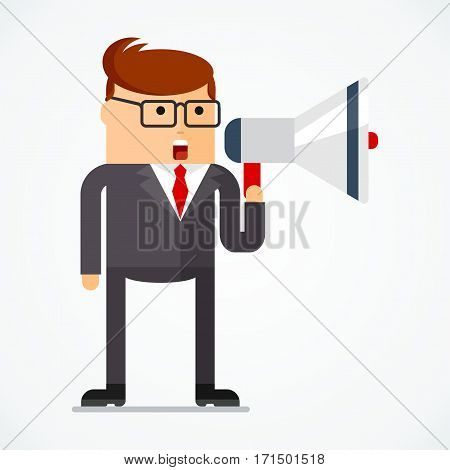 Business Character Message