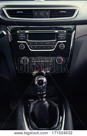 manual shift of modern car gear shifter