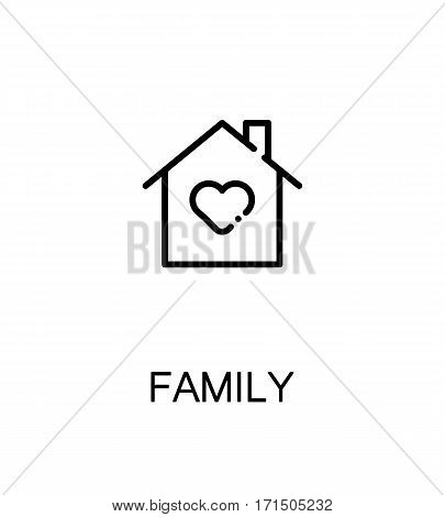Family icon. Single high quality outline symbol for web design or mobile app. Thin line sign for design logo. Black outline pictogram on white background