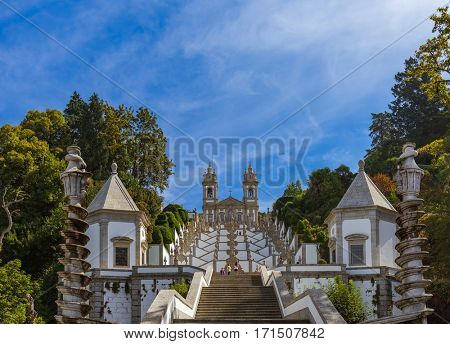 Bom Jesus church in Braga - Portugal - architecture background