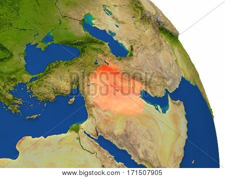 Map Of Iraq In Red