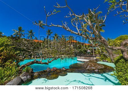 Nusa Dua resort in Bali Indonesia - nature vacation background