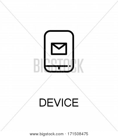 Device icon. Single high quality outline symbol for web design or mobile app. Thin line sign for design logo. Black outline pictogram on white background