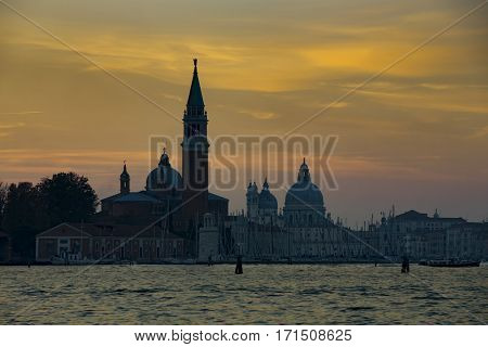 Venice during sunset