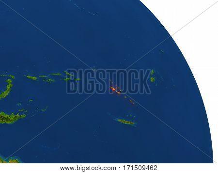 Map Of Vanuatu In Red