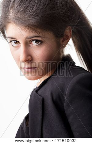 Young Woman Having High Hopes