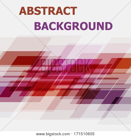Abstract pink and orange geometric overlapping background, stock vector