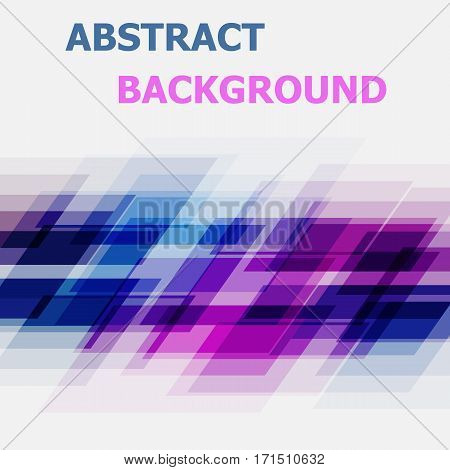 Abstract blue and pink geometric overlapping background, stock vector