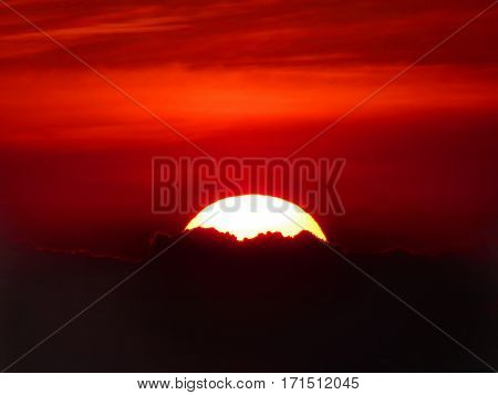 Beautiful Burry  Of Sunset  For Background