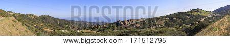 Beautiful Landscape On Topanga Lookout Trail