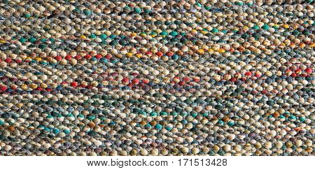 colorful texture of carpet for cleaning foot
