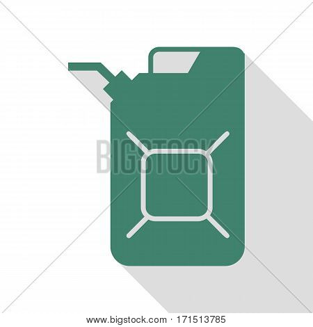Jerrycan oil sign. Jerry can oil sign. Veridian icon with flat style shadow path.