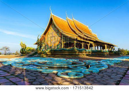 Beautiful Temple Phu Proud at Sirindhorn District Ubon Ratchathani Province Thailand