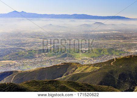San Bernardino At Sunset Time