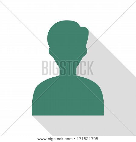 User avatar illustration. Anonymous sign. Veridian icon with flat style shadow path.