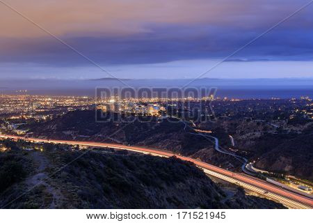 Night Cityscape At Getty View Park