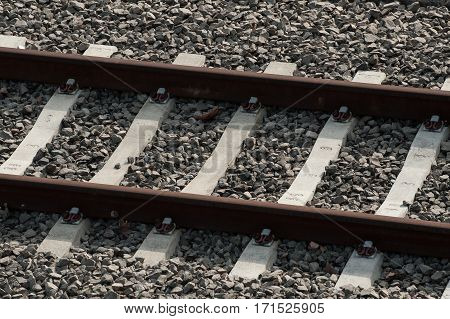 Unique And Abstract View Of Railroad Tracks