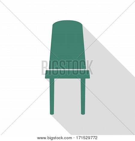 Office chair sign. Veridian icon with flat style shadow path.