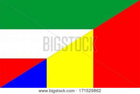 romania hungary neighbour countries half flag symbol