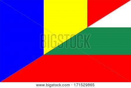 romania bulgaria neighbour countries half flag symbol
