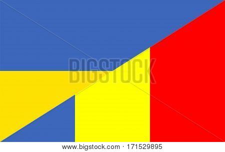 romania ukraine neighbour countries half flag symbol