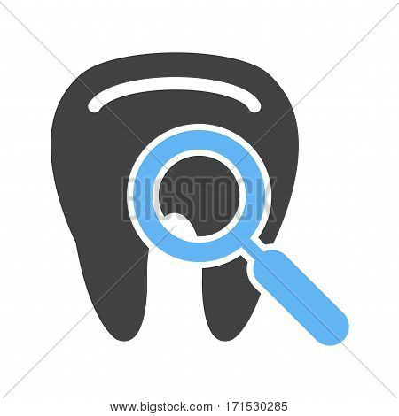 Tooth, exam, teeth icon vector image. Can also be used for dentist equipment. Suitable for mobile apps, web apps and print media.
