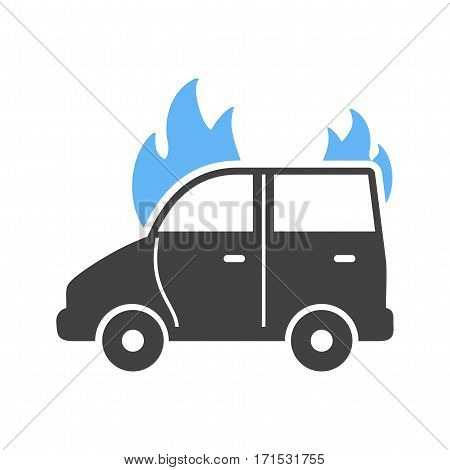 Car, fire, extinguisher icon vector image. Can also be used for firefighting. Suitable for use on web apps, mobile apps and print media.