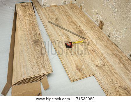 Laminate Plates, Imitating Oak