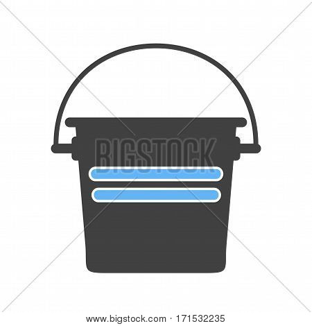 Fire, bucket, water icon vector image. Can also be used for firefighting. Suitable for web apps, mobile apps and print media.
