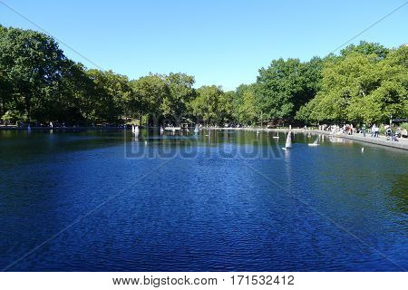 Conservatory Water on New York Central Park