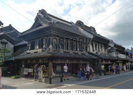 Kawagoe, Saitama/Japan - August 25: Kurazukuri Warehouse on August 25, 2016 in Saitama, Japan