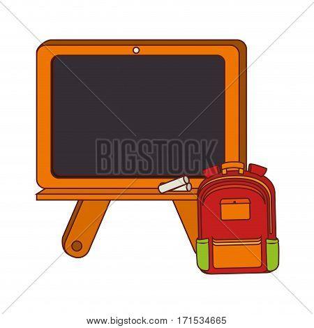 board school with briefcase with handle vector illustration