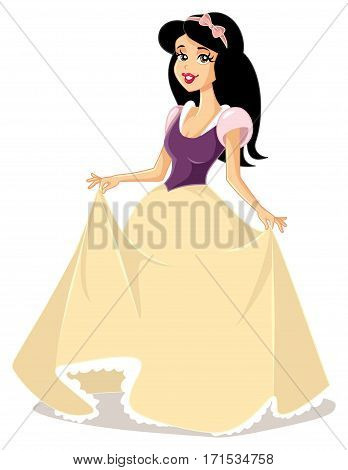 Snow White Princess Vector Character Fantasy Fairytale