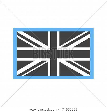 United Kingdom, flag, national icon vector image. Can also be used for flags. Suitable for web apps, mobile apps and print media.