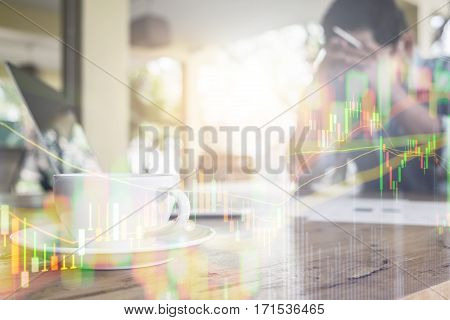 Double Exposure Disappointment investment Financial investment Concept Business Ideas