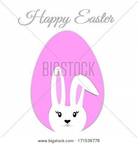Easter Eggs, White Easter Bunny