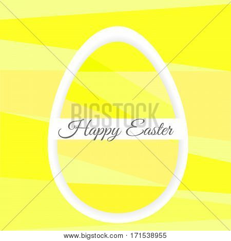 Single Colorful Easter Egg On Background