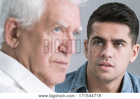 Man Looking At His Father