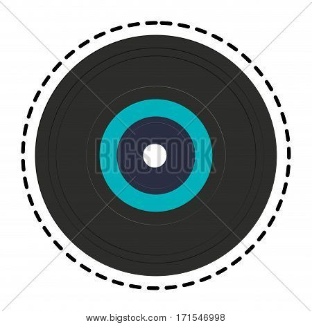 longplay icon over white background. colorful design. vector illustration