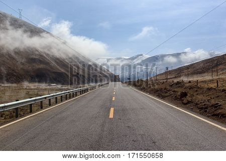 Road to beautiful mountains Mountains of Leh Ladakh Jammu and Kashmir India