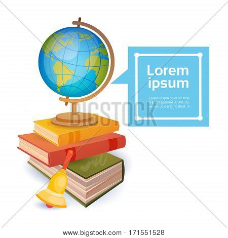 Books Stack School Stuff Education Concept Flat Vector Illustration