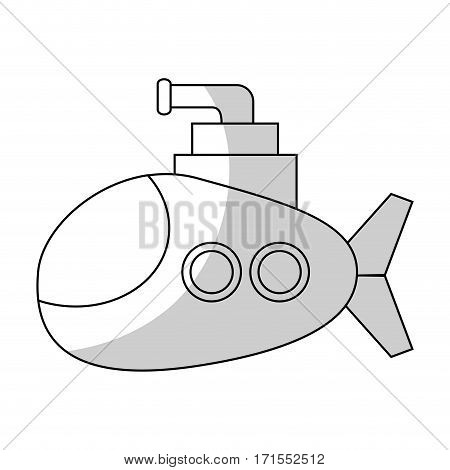submarine vehicle icon over white background. vector illustration