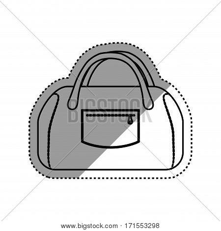 Women sport bag icon vector illustration graphic design
