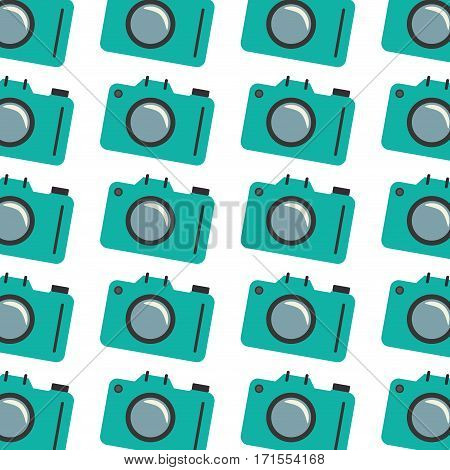 colorful pattern with analog camera vector illustration