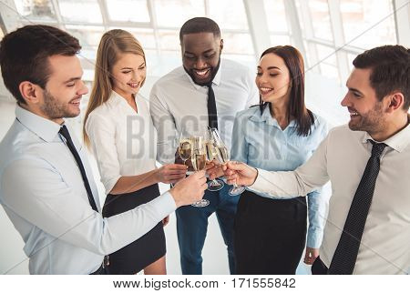 Business People Celebrating