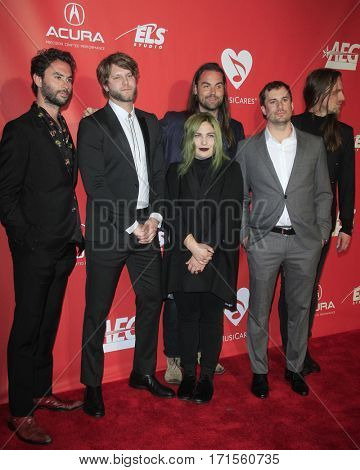 LOS ANGELES - FEB 10:  J Russell, Tyler Williams, Charity Rose Thielen, Chris Zasche, K Hensley, J Johns at the Musicares Gala at Los Angeles Convention Center on February 10, 2017 in Los Angeles, CA