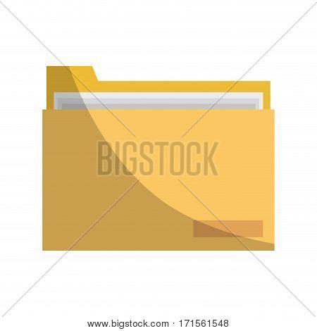 document folder icon over white background. colorful design. vector illustration