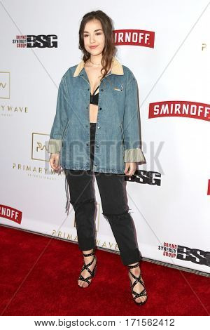LOS ANGELES - FEB 11:  Ezi at the Primary Wave 11th Annual Pre-GRAMMY Party at The London on February 11, 2017 in West Hollywood, CA
